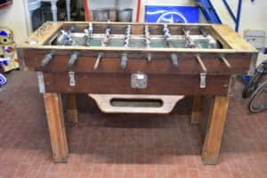 Vintage wooden foosball table