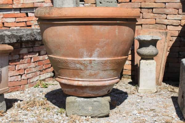 Ancient terracotta basin