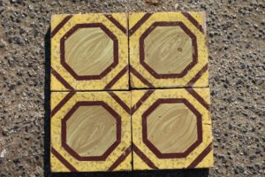 Yellow and brown majolica