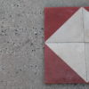 Floor in pastina in white and red