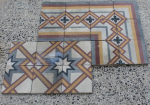 Pastina floor with geometric design