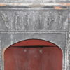 Large terracotta fireplace