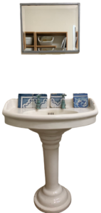 Antique bathroom sink in recycled ceramic
